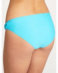 John Lewis Blue Plain Ring Side Bikini Briefs