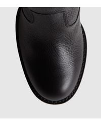 Gucci Black Leather Mid-heel Boot