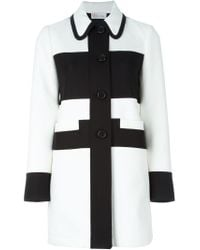 RED Valentino - Black Single Breasted Coat - Lyst