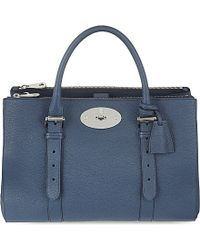 Mulberry | Bayswater Double Zip Tote, Women's, Regal Blue | Lyst