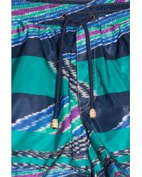 Missoni - Blue Printed Swim Shorts for Men - Lyst