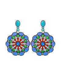 Miranda Konstantinidou Chez Carré Y. | Multicolor Mosaic Earrings | Lyst