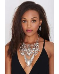 Nasty Gal | Metallic Janessa Collar Necklace | Lyst