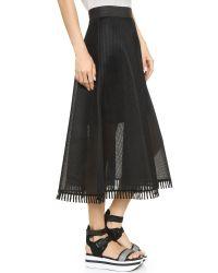 DKNY | Black Embellished Jersey Skirt | Lyst