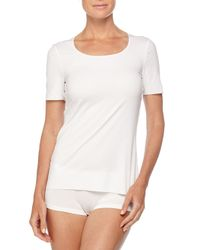 Wolford White Pure Short-Sleeve Shirt