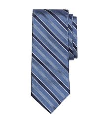 Brooks Brothers - Blue Heathered Stripe Tie for Men - Lyst