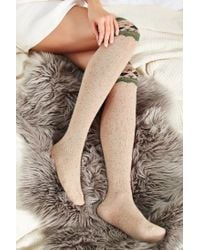 Urban Outfitters | Natural Patterned Over-the-knee Sock | Lyst