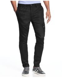 Sean John - Black Slim-fit Coated Jogger Jeans for Men - Lyst
