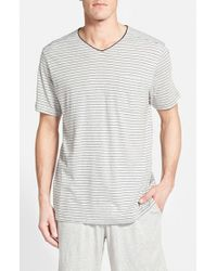 Daniel Buchler | Gray Pima Cotton & Modal V-neck T-shirt for Men | Lyst