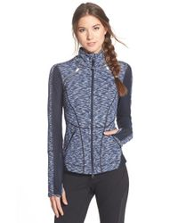 Zella | Blue Luxe Mesh Jacket | Lyst
