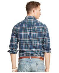 Polo Ralph Lauren Green Plaid Oxford Shirt for men