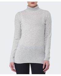 Duffy | Gray Cashmere Roll Neck Jumper | Lyst