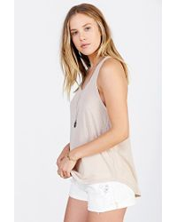 Project Social T | Natural Deep Scoop Tank Top | Lyst