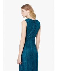 Mango - Green Lace Detail Gown - Lyst