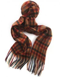 Jules B - Orange Small Check Scarf for Men - Lyst