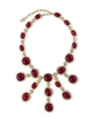 Kenneth Jay Lane | Multicolor Ruby Cabochons Necklace | Lyst
