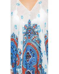 Theodora & Callum Hvar Caftan - Blue Multi