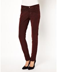M.i.h Jeans | Red The Ellsworth Skinny Jean in Rose Cord | Lyst