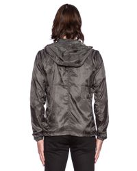 G-Star RAW Gray Packable G-13 Hooded Jacket for men