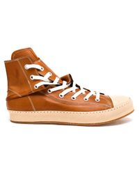 Miharayasuhiro - Brown Twisted High-top Trainers - Lyst