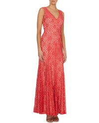 Eliza J | Pink Sleeveless All Over Lace Dress | Lyst