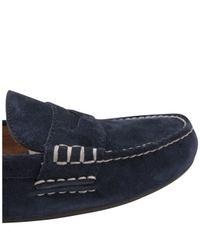 Polo Ralph Lauren - Blue Men's Wes Suede Slip-on Shoes for Men - Lyst