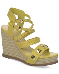 Fergie | Yellow Averie Espadrille Platiform Wedge Sandals | Lyst