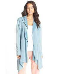 UGG | Blue 'ginnifer' Hooded Cardigan | Lyst