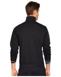 Polo Ralph Lauren | Black Fleece Half-zip Pullover for Men | Lyst
