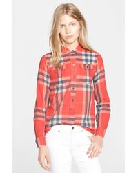 Burberry Brit | Multicolor Woven Check Tunic Shirt | Lyst