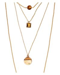 H&M | Brown 2-pack Necklaces | Lyst