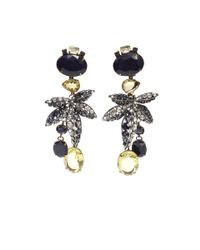 Iradj Moini - Blue Leaf Drop Earrings - Lyst