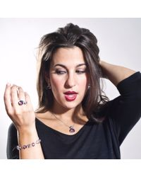 Manja | Purple Lana Amethyst And Blue Topaz Pendant | Lyst