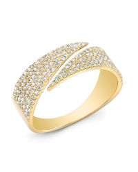 Anne Sisteron Metallic 14kt Yellow Gold Diamond Full Spike Wrap Ring
