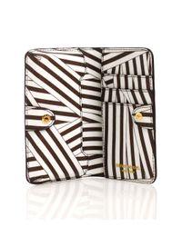 Henri Bendel - White Disturbed Stripe Mini Phone Case - Lyst