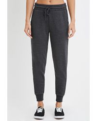 Forever 21 | Gray Drawstring Cotton-blend Sweatpants | Lyst
