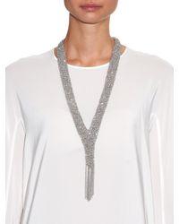 Diane von Furstenberg - Metallic Silver-plated Woven Chain Necklace - Lyst