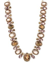 Jones New York | Metallic Goldtone Light Topaz Bead Collar Necklace | Lyst