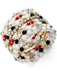 INC International Concepts | Multicolor Gold-tone Beaded Wrap Coil Bracelet | Lyst