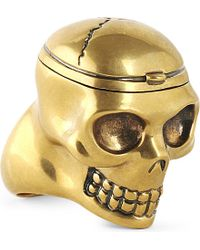 Alexander McQueen | Metallic Doctor Skull Ring for Men | Lyst