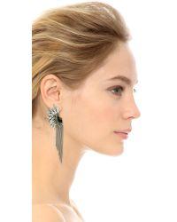 Adia Kibur - Metallic Crystal Fringe Earrings - Silver/clear/black - Lyst