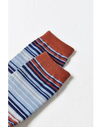 Urban Outfitters Blue Multicolor Thin Stripe Sock for men