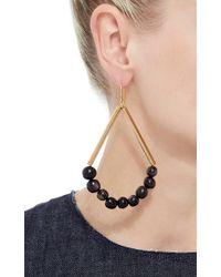 Marni - Black Dangling Horn And Metal Earrings - Lyst