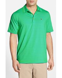 Vineyard Vines - Green 'rocky Bluff Stripe' Stretch Golf Polo for Men - Lyst