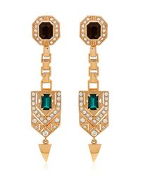 Mawi | Metallic Drop Deco Crest Earrings | Lyst
