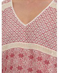 Velvet By Graham & Spencer Lizbeth Embroidered Voile Top