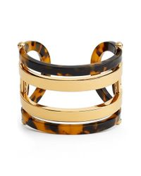 Tory Burch | Brown Wide Cuff | Lyst