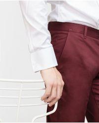 Zara | White Evening Shirt With Hidden Button Closure for Men | Lyst