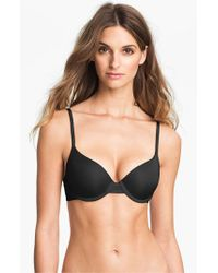 Calvin Klein | Black 'perfectly Fit Sexy Signature' Underwire Demi Bra | Lyst
