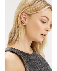 Oasis | White Pearl And Crystal Front To Back Earring | Lyst